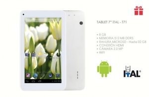 Tablet T71 ITAL Android de 7 pulgadas