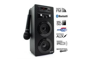 Joybox Karaoke con Bluetooth, SD, USB y radio