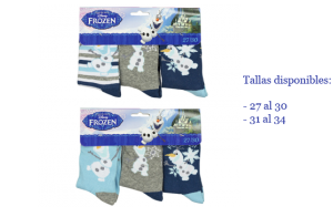 Pack de 3 calcetines de Disney Frozen