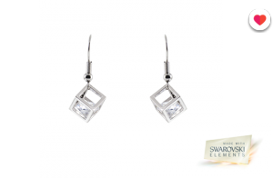 Pendientes Cube con Swarovski Elements